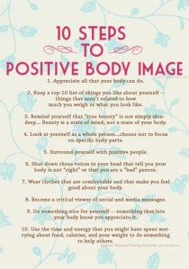 10 steps to better body image