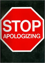 stop apologzing